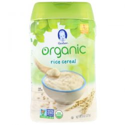 Gerber, Organic, Rice Cereal, Supported Sitter, 8 oz (227 g) Biografie, wspomnienia