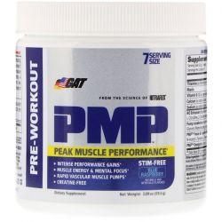 GAT, PMP, Pre-Workout, Peak Muscle Performance, Blue Raspberry, 2.09 oz (59.5 g)
