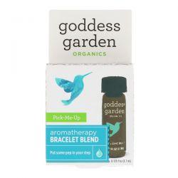 Goddess Garden, Organics, Pick-Me-Up, Aromatherapy Bracelet Blend, 0.125 fl oz (3.7 ml)