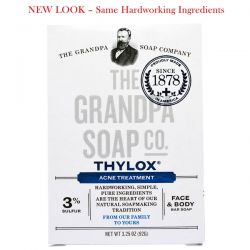 Grandpa's, Face & Body Bar Soap, Thylox Acne Treatment,3.25 oz (92 g) Biografie, wspomnienia