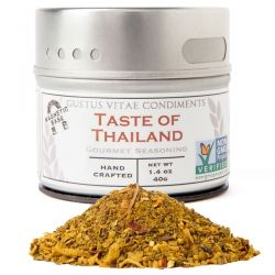 Gustus Vitae, Gourmet Seasoning, Taste of Thailand, 1.4 oz (40 g) Biografie, wspomnienia