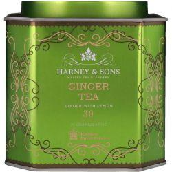 Harney & Sons, Ginger Tea, Ginger with Lemon, 30 Sachets, 2.67 oz (75 g) Each Biografie, wspomnienia