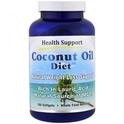 Health Support, Coconut Oil Diet, 180 Softgel Pozostałe