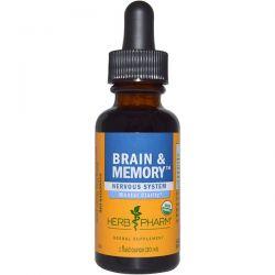 Herb Pharm, Brain & Memory, Nervous System, 1 fl oz (30 ml) Biografie, wspomnienia