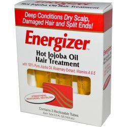 Hobe Labs, Energizer, Hot Jojoba Oil Hair Treatment, 3 Reclosable Tubes, 0.5 fl oz (14.8ml) Each