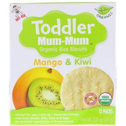 Hot Kid, Toddler Mum-Mum, Organic Rice Biscuits, Mango & Kiwi, 12 Packs, 2.12 oz (60 g) Biografie, wspomnienia