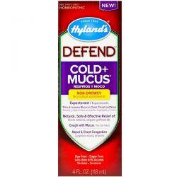 Hyland's, Defend, Cold + Mucus, 4 fl oz (118 ml) Pozostałe