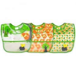 i play Inc., Green Sprouts, Wipe-Off Bibs, 9-18 Months, Green Fox Set, 3 Pack Biografie, wspomnienia