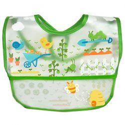 i play Inc., Green Sprouts, Wipe-off Bib, 9-18 Months, Green, 1 Bib
