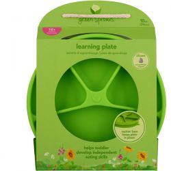 i play Inc., Green Sprouts, Learning Plate, Green, 12+ Months, 1 Plate, 10 oz (296 ml) Biografie, wspomnienia