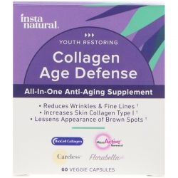 InstaNatural, Collagen Age Defense with BioCell Collagen, Anti-Aging Supplement, 60 Veggie Capsules Biografie, wspomnienia