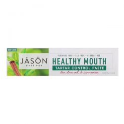 Jason Natural, Healthy Mouth, Tartar Control Paste, Tea Tree Oil & Cinnamon, 4.2 oz (119 g) Biografie, wspomnienia