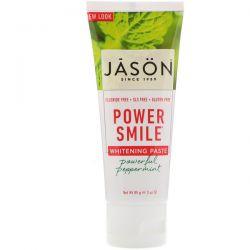 Jason Natural, Power Smile, Whitening Paste, Powerful Peppermint, 3 oz (85 g)