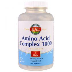 KAL, Amino Acid Complex 1000, 1,000 mg, 100 Tablets