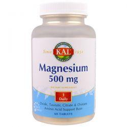 KAL, Magnesium, 500 mg, 60 Tablets Pozostałe