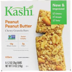 Kashi, Chewy Granola Bars, Peanut Peanut Butter, 6 Bars, 1.2 oz (35 g) Each Pozostałe
