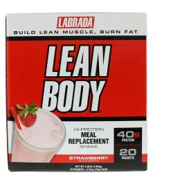 Labrada Nutrition, Lean Body, Hi-Protein Meal Replacement Shake, Strawberry, 20 Packets, 2.78 oz (79 g) Each
