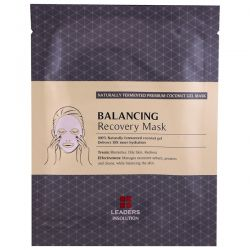 Leaders, Coconut Gel Balancing Recovery Mask, 1 Mask, 30 ml