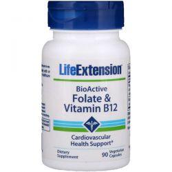 Life Extension, BioActive, Folate & Vitamin B12, 90 Vegetarian Capsules