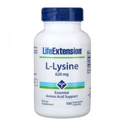 Life Extension, L-Lysine, 620 mg, 100 Vegetarian Capsules Pozostałe