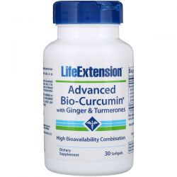 Life Extension, Advanced Bio-Curcumin, with Ginger & Turmerones, 30 Softgels
