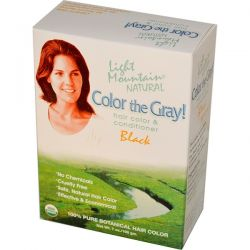 Light Mountain, Color the Gray! Natural Hair Color & Conditioner, Black, 7 oz (198 g) Biografie, wspomnienia