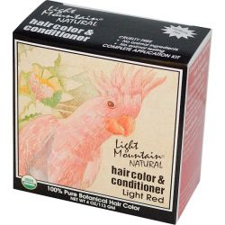 Light Mountain, Organic Natural Hair Color & Conditioner, Light Red, 4 oz (113g) Biografie, wspomnienia