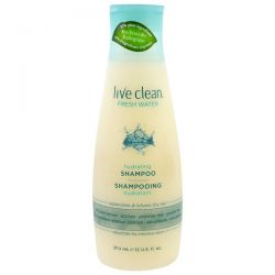 Live Clean, Hydrating Shampoo, Fresh Water, 12 fl oz (350 ml)