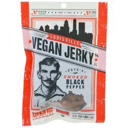 Louisville Vegan Jerky Co, Vegan Jerky, Pete's Smoked, Black Pepper, Mild, 3 oz (85.05 g)