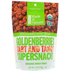 Made in Nature, Organic Goldenberries Tart and Tangy Supersnack, 6 oz (170 g) Biografie, wspomnienia