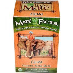 Mate Factor, Organic Yerba Maté, Chai, 20 Tea Bags, 2.47 oz (70 g) Pozostałe