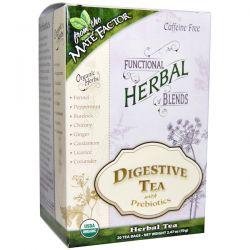 Mate Factor, Organic Functional Herbal Blends, Digestive Tea with Prebiotics, 20 Tea Bags, (3.5 g) Each
