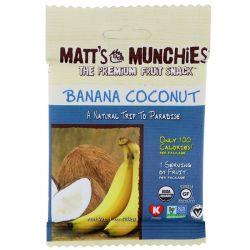 Matt's Munchies, Banana Coconut, 12 Pack, 1 oz (28 g) Each Biografie, wspomnienia