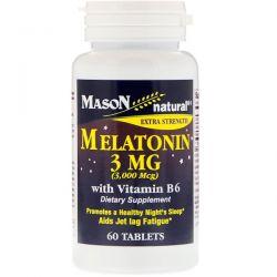 Mason Natural, Melatonin, 3 mg, 60 Tablets Biografie, wspomnienia