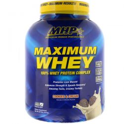 Maximum Human Performance, LLC, Maximum Whey, Cookies & Cream, 5.01 lbs (2275 g)