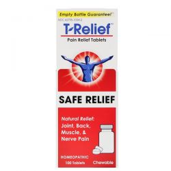 MediNatura, T-Relief, Safe Relief, Pain Relief Tablets, 100 Tablets