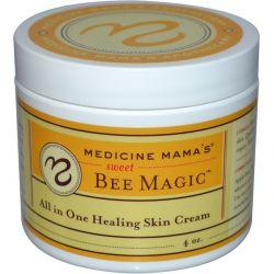 Medicine Mama's, Sweet Bee Magic, All In One Healing Skin Cream, 4 oz Biografie, wspomnienia