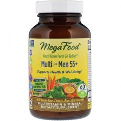 MegaFood, Multi for Men 55+, 60 Tablets Pozostałe