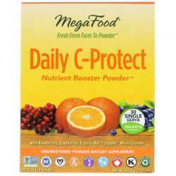 MegaFood, Daily C-Protect, Nutrient Booster Powder, 30 Packets, (2.13 g) Each Biografie, wspomnienia