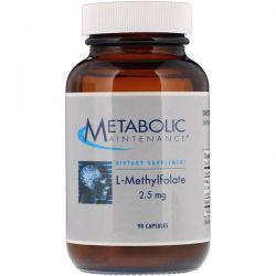 Metabolic Maintenance, L-Methylfolate, 2.5 mg, 90 Capsules