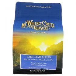 Mt. Whitney Coffee Roasters, Base Camp Blend, Medium Plus Roast, Whole Bean Coffee, 12 oz (340 g) Pozostałe