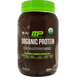 MusclePharm Natural, Organic Protein, Plant-Based, Chocolate, 2.7 lbs (1.22 kg) Pozostałe