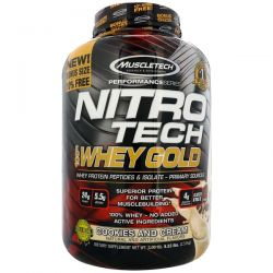 Muscletech, Nitro Tech, 100% Whey Gold, Cookies and Cream, 5.53 lbs (2.51 kg) Biografie, wspomnienia