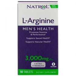 Natrol, L-Arginine, 3000 mg, 90 Tablets Pozostałe