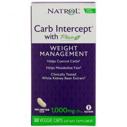 Natrol, Carb Intercept with Phase 2, Weight Management , 60 Veggie Caps Biografie, wspomnienia