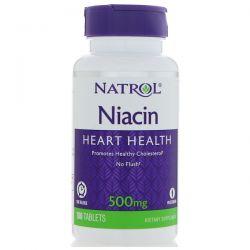 Natrol, Niacin, Time Release, 500 mg, 100 Tablets Pozostałe