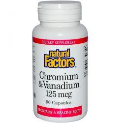 Natural Factors, Chromium & Vanadium, 125 mcg, 90 Capsules Pozostałe