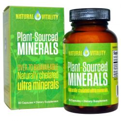 Natural Vitality, Plant-Sourced Minerals, 60 Capsules Pozostałe