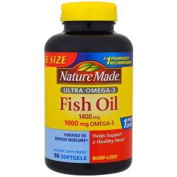 Nature Made, Ultra Omega-3, Fish Oil, 1400 mg , 90 Softgels