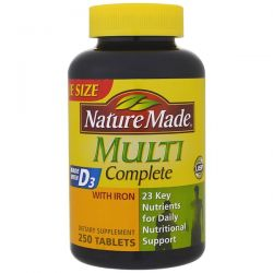 Nature Made, Multi Complete, With Iron, 250 Tablets Biografie, wspomnienia